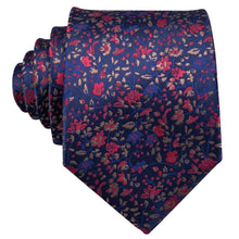 Load image into Gallery viewer, Dark Floral Men's Necktie Set Fashion Accessories Barry.Wang VIP Store