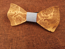 Load image into Gallery viewer, Duck Egg Patterned Wooden Bow Tie Set Fashion Accessories Suit Monkey UK