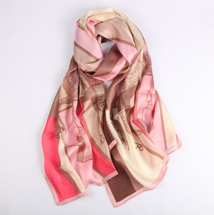 Equestrian Lover on Pink Ladies' Scarf Fashion Accessories Suit Monkey UK
