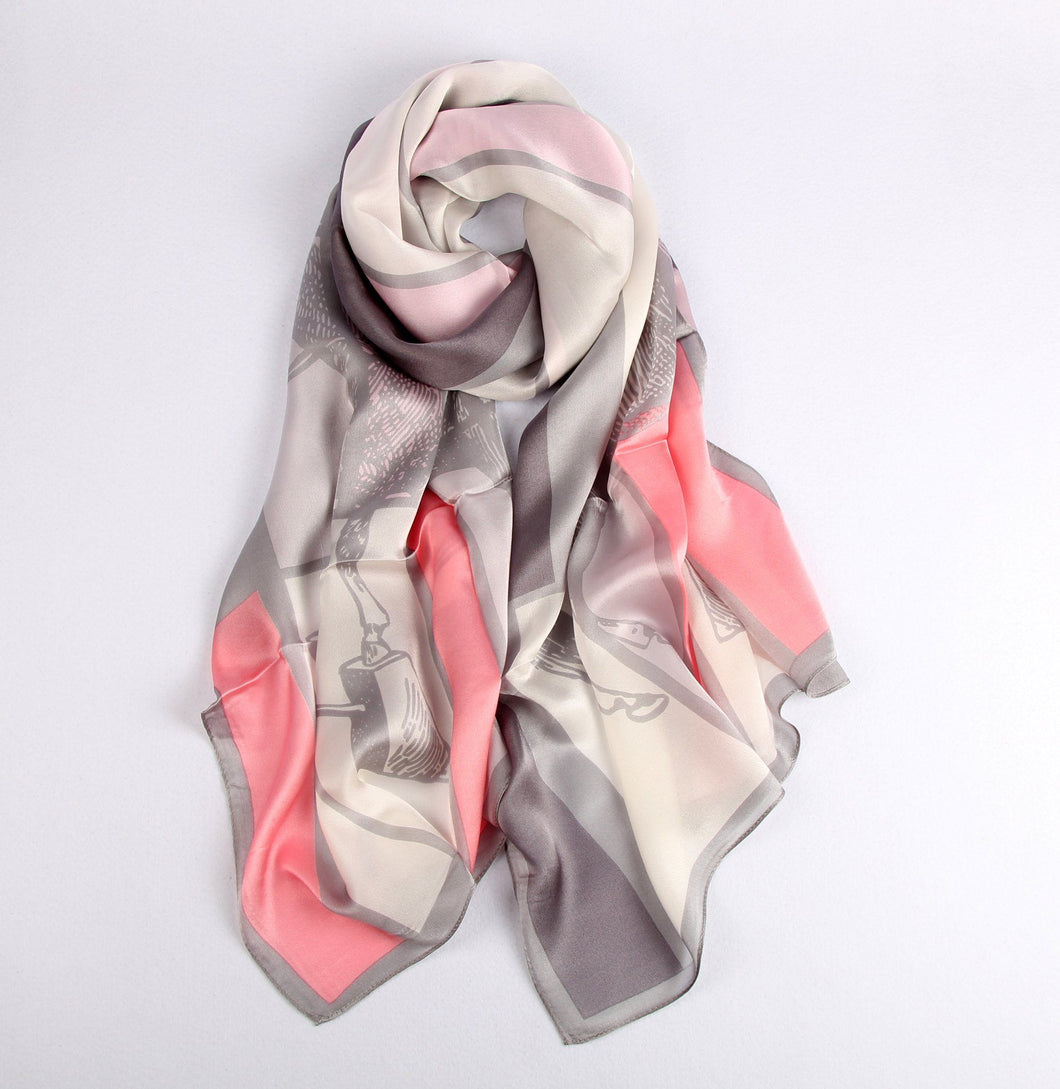 Fashion Accessories Equestrian Lover on White Ladies' Scarf - Suit Monkey UK
