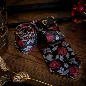 Evening Roses Men's Necktie Set Fashion Accessories Free Shipping!