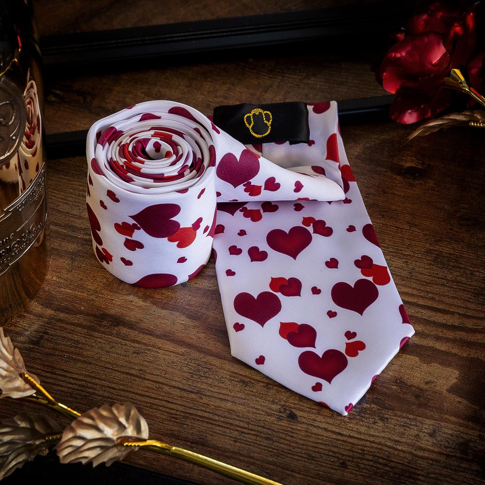 Fashion Accessories Happy Hearts Men's Necktie Set - Suit Monkey UK