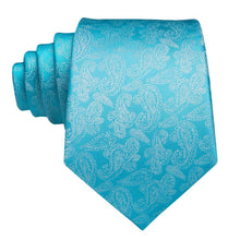Load image into Gallery viewer, Fashion Accessories Ice Paisley Men's Necktie Set - Suit Monkey UK