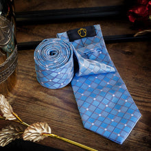 Load image into Gallery viewer, Light Blue Men's Necktie Set Fashion Accessories Free Shipping!