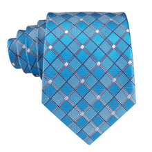 Load image into Gallery viewer, Light Blue Men's Necktie Set Fashion Accessories Hi-Tie Official Store