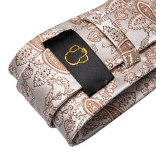 Load image into Gallery viewer, Light Brown Paisley Men's Necktie Set Fashion Accessories Hi-Tie Official Store