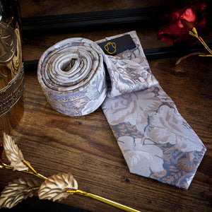 Neutral Petals Men's Necktie Set Fashion Accessories Free Shipping!