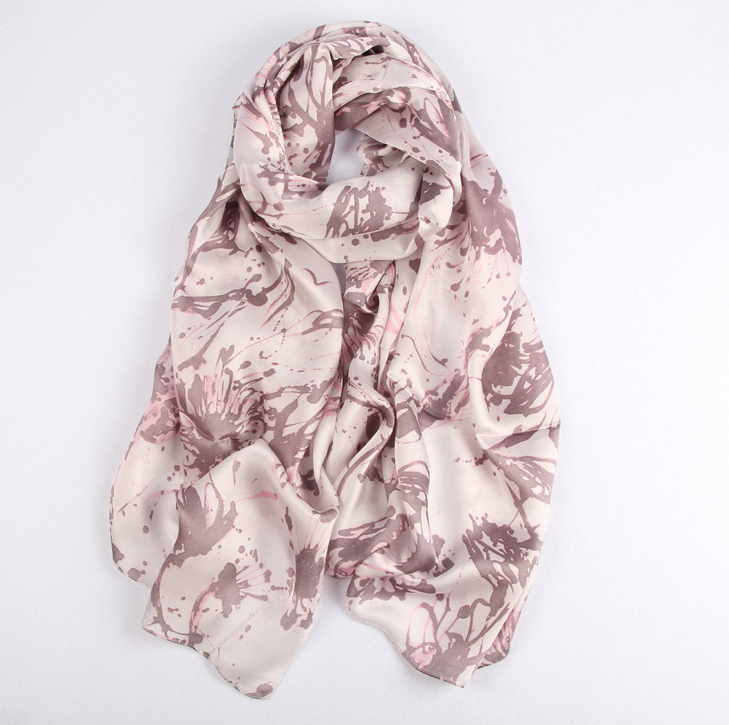 Old Rose Splatters Ladies' Scarf Fashion Accessories Suit Monkey UK