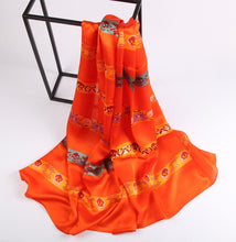 Load image into Gallery viewer, Orange Skull Ladies' Scarf Fashion Accessories Suit Monkey UK