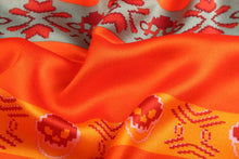 Load image into Gallery viewer, Fashion Accessories Orange Skull Ladies' Scarf - Suit Monkey UK