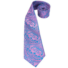 Load image into Gallery viewer, Fashion Accessories Pink & Blue Men's Necktie Set - Suit Monkey UK
