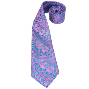 Pink & Blue Men's Necktie Set Fashion Accessories Hi-Tie Official Store
