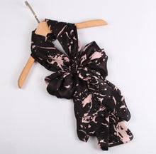 Load image into Gallery viewer, Fashion Accessories Pink Splatters on Black Ladies' Scarf - Suit Monkey UK