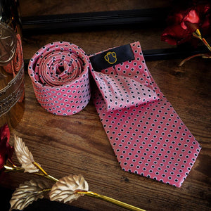 Pink Spot Men's Necktie Set Fashion Accessories Free Shipping!
