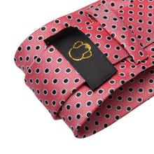 Load image into Gallery viewer, Fashion Accessories Pink Spot Men's Necktie Set - Suit Monkey UK