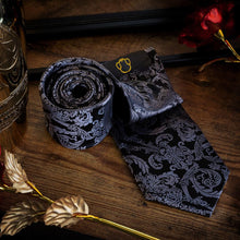 Load image into Gallery viewer, Regal Black Men's Necktie Set Fashion Accessories Free Shipping!