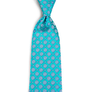 Regal Cyan Men's Necktie Set Fashion Accessories DiBanGu VIP Store