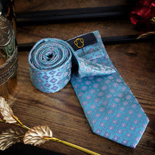 Load image into Gallery viewer, Regal Cyan Men's Necktie Set Fashion Accessories Free Shipping!