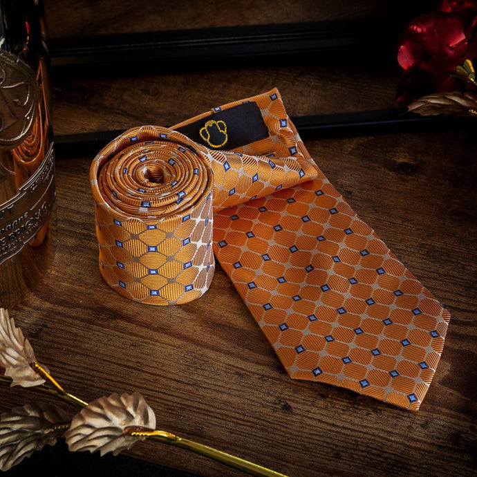 Regal Orange Men's Necktie Set Fashion Accessories Free Shipping!