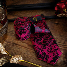 Load image into Gallery viewer, Regal Red Men's Necktie Set Fashion Accessories Free Shipping!