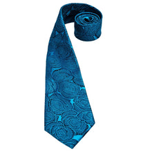 Load image into Gallery viewer, Fashion Accessories Rose Blue Men's Necktie Set - Suit Monkey UK