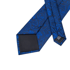 Fashion Accessories Royal Blue Paisley Men's Necktie Set - Suit Monkey UK