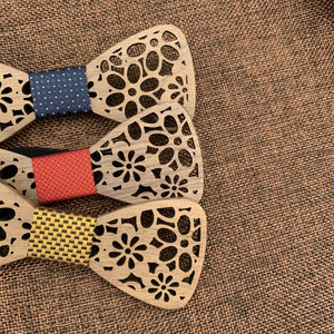 Fashion Accessories Royal Wooden Bow Tie Set - Suit Monkey UK