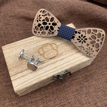 Load image into Gallery viewer, Royal Wooden Bow Tie Set Fashion Accessories Suit Monkey UK