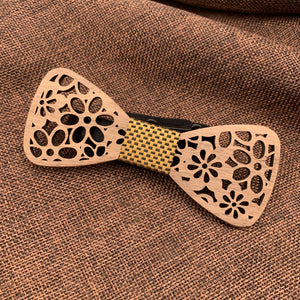 Royal Wooden Bow Tie Set Fashion Accessories Suit Monkey UK