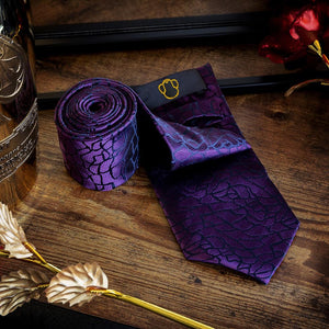 Fashion Accessories Sci-fi Violet Men's Necktie Set - Suit Monkey UK