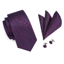 Load image into Gallery viewer, Fashion Accessories Sci-fi Violet Men's Necktie Set - Suit Monkey UK
