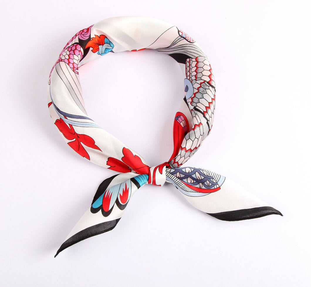 Serpents and Blooms Ladies' Scarf Fashion Accessories Suit Monkey UK