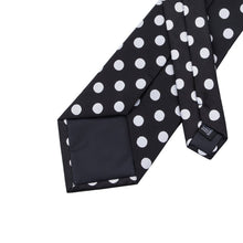 Load image into Gallery viewer, Small Black & White Polka Dots Men's Necktie Set Fashion Accessories Hi-Tie Official Store
