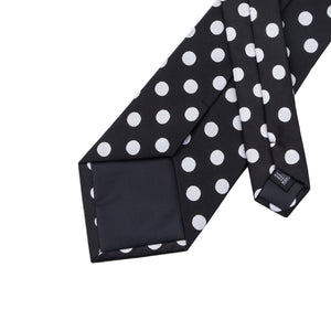 Small Black & White Polka Dots Men's Necktie Set Fashion Accessories Hi-Tie Official Store
