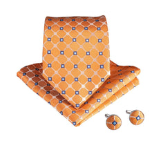 Load image into Gallery viewer, Smart Orange Men's Necktie Set Fashion Accessories DiBanGu VIP Store