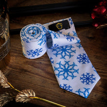 Load image into Gallery viewer, Snowflakes Men's Necktie Set Fashion Accessories Free Shipping!