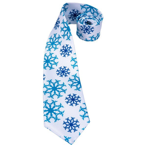 Snowflakes Men's Necktie Set Fashion Accessories Hi-Tie Official Store