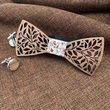 Load image into Gallery viewer, Fashion Accessories Spring Flowers Wooden Bow Tie Set - Suit Monkey UK