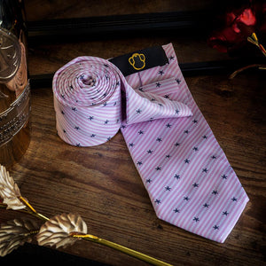 Starry Baby Pink Men's Necktie Set Fashion Accessories Free Shipping!