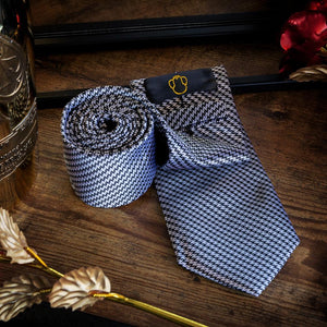 Fashion Accessories Steel Look Men's Necktie Set - Suit Monkey UK