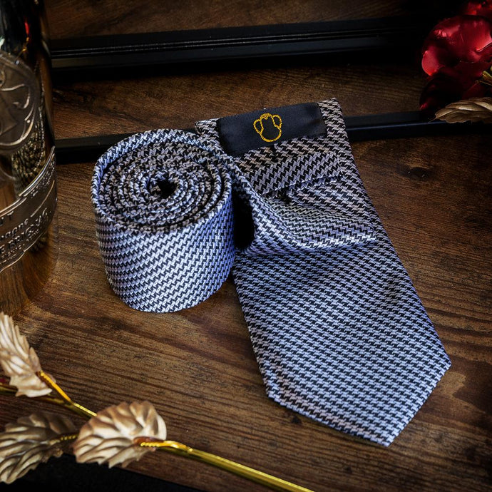 Steel Look Men's Necktie Set Fashion Accessories Free Shipping!