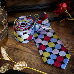 Technicolor Dots Men's Necktie Set Fashion Accessories Free Shipping!