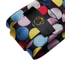 Load image into Gallery viewer, Technicolor Dots Men's Necktie Set Fashion Accessories Hi-Tie Official Store