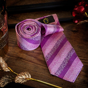 Textured Pink Men's Necktie Set Fashion Accessories Free Shipping!