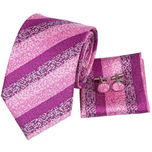 Textured Pink Men's Necktie Set Fashion Accessories Hi-Tie Official Store
