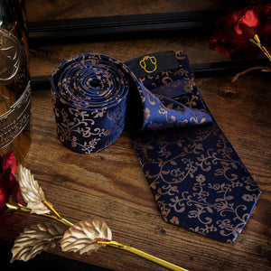 Vines on Blue Men's Necktie Set Fashion Accessories Free Shipping!