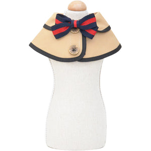Elegant Dog Scarf with Bow, Fake Collar Bandana for Small Dogs