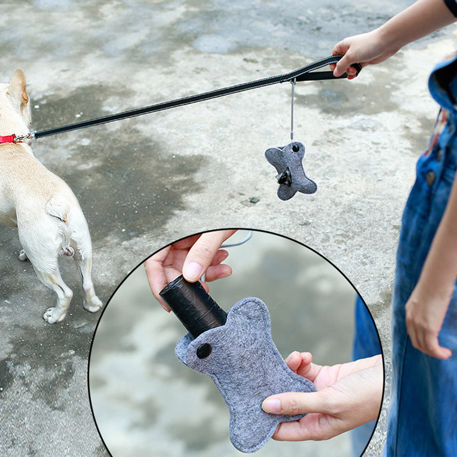 Dog Waste Bags Holder Pet Poop bag Dispenser Includes 2 Rolls of Free Poop bags
