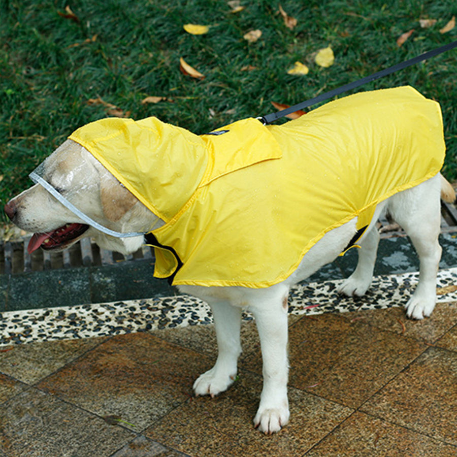 Dog Rain Coat Adjustable Rain Poncho with Leash Hole for Medium Large Pets dog Waterproof Clothes