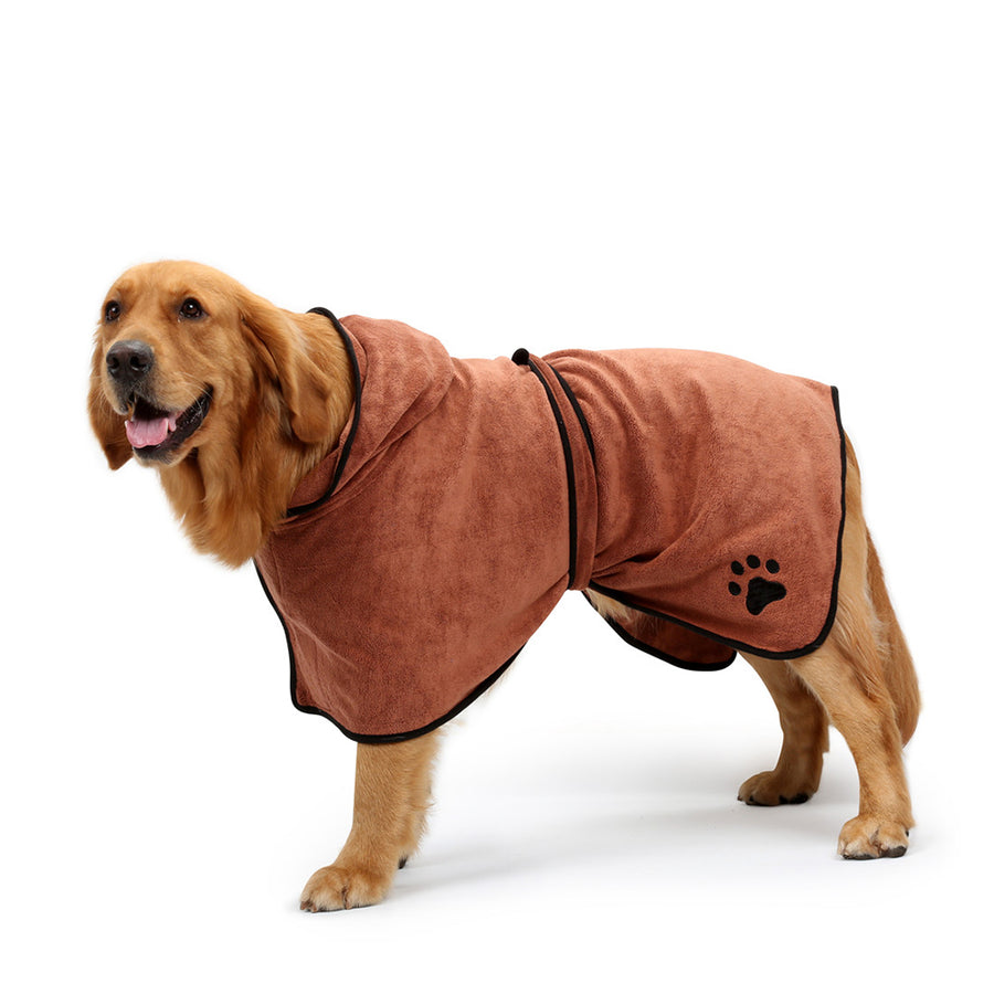 Bathrobe Dog Pajamas QBLEEV Brown